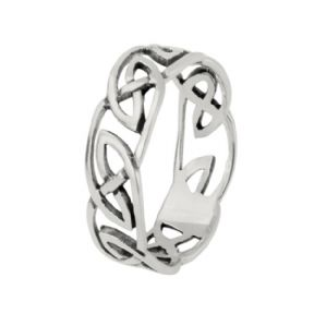 Celtic Knotwork Silver Band Ring 0762